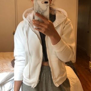 Brandy Melville white sweatshirt